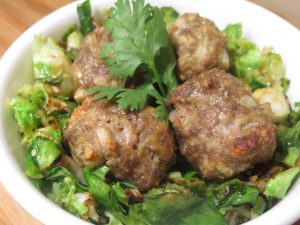 Pastured Beef Meatballs with Mushrooms